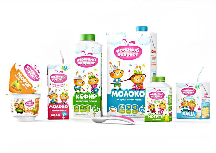 «Нежная» упаковка разработана Brandiziac для «Воронежского Молочного комбината»