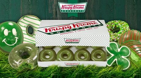 Krispy Kreme выпустил серию зелёных донатов в честь Дня Святого Патрика