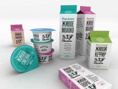 Проект по редизайну упаковки продукции Козельского молочного завода представлен 43'oz