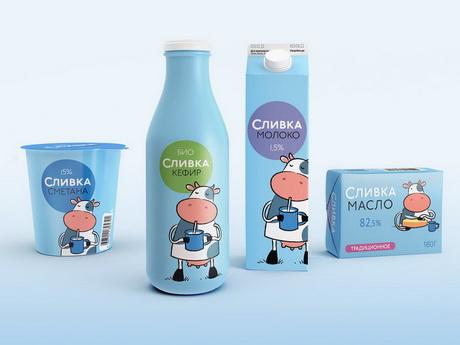Очень дружелюбный брендинг для Новосибирской молочной компании