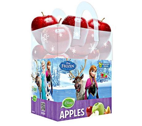 В магазинах США появились яблоки в сумках с изображениями известных персонажей