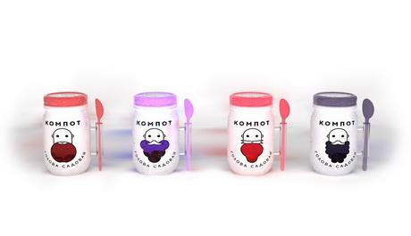 Дизайнер Евгений Безденежных представил концепт упаковки для компотов «Голова Садовая»